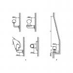 Размеры свободного пространства между опорным устройством и ближайшим оборудованием или стенками помещения.