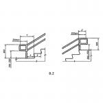 Пример расположения лестничных поручней в зданиях и сооружениях.