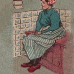 Открытка - комиксы 19 века