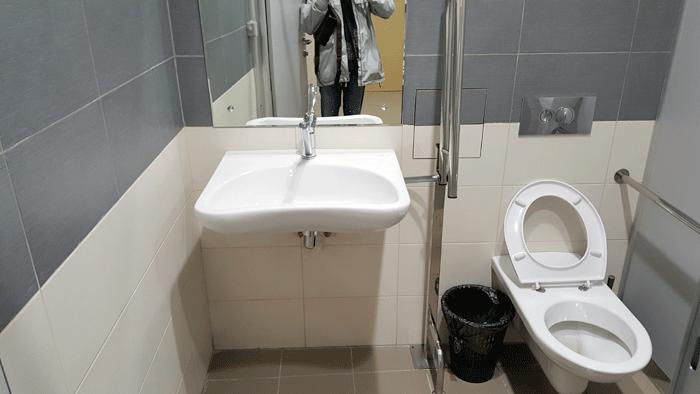 Туалетная кабина для МГН (инвалидов)