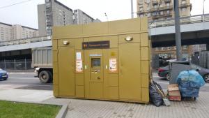 Модульный туалет у метро Рижская