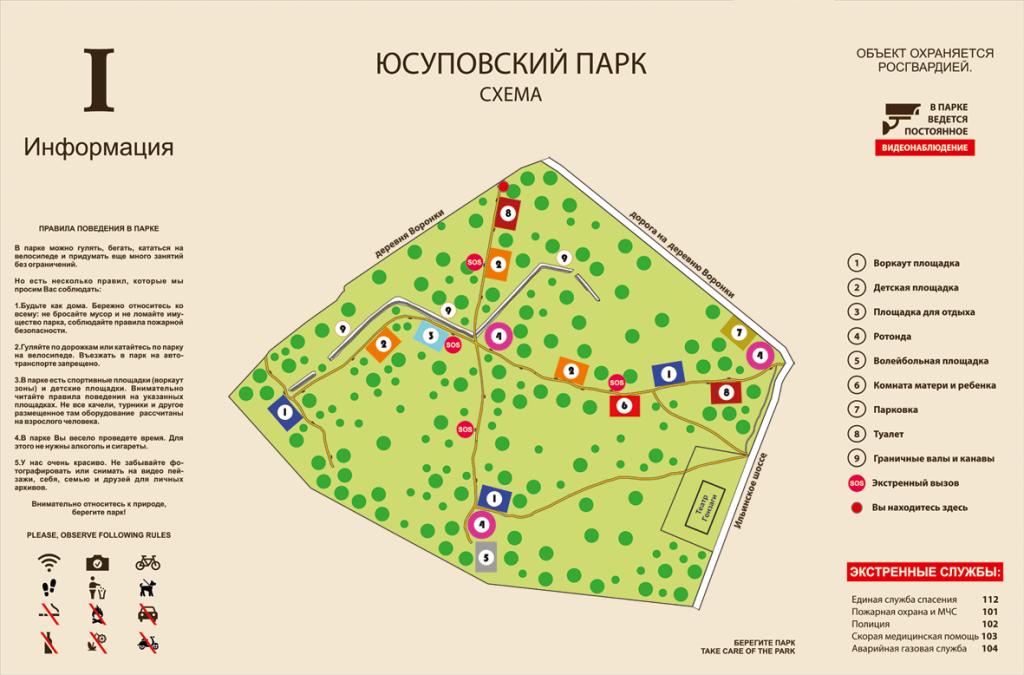 навигация схема парка