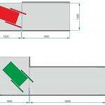 схема пандуса для кабины МГН (инвалидов)
