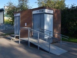 Модульный туалет в Коломенском